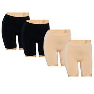 Breezies Set of 4 Seamless Long Leg Pantie Briefs